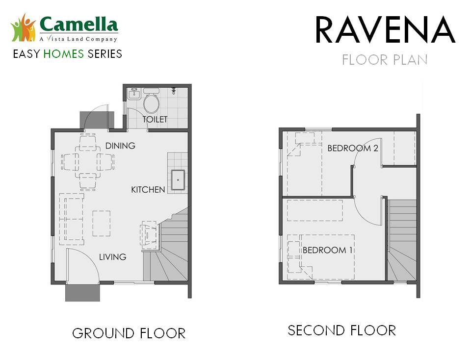 Floor Plan of Ravena - Camella Bucandala | House and Lot for Sale Imus Cavite