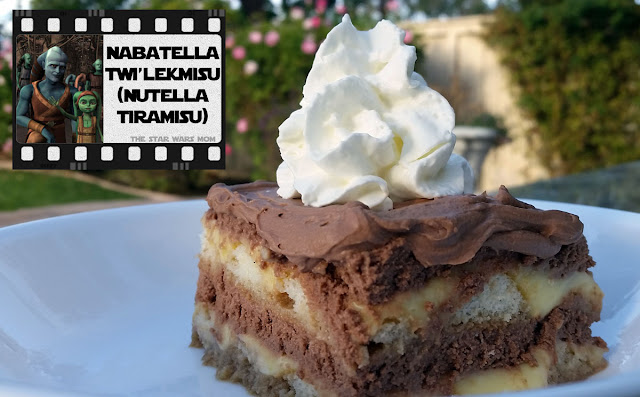 Star Wars Food - Nabatella Twi'lekmisu aka Nutella Tiramisu Recipe and Label