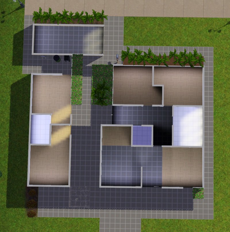 My Sims 3 Blog: Mid-century 4 Bedroom Home By MacTheKat