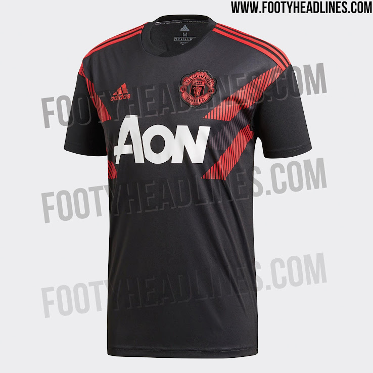554ee46f1b4 Adidas Manchester United 18-19 Pre-Match Jersey Released - Footy ...