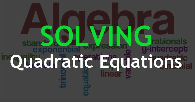 Quadratic-Equations Two Ways To Solve Math Problems on using venn diagrams answers, cartoon trying, creative ways, linear equations, kids working together,