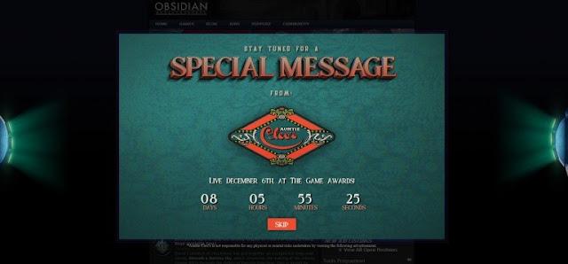 أستوديو Obsidian يؤكد أن عنوان جديد سيتم الكشف عنه خلال حفل TGA 2018 و هذه أول الصور ..