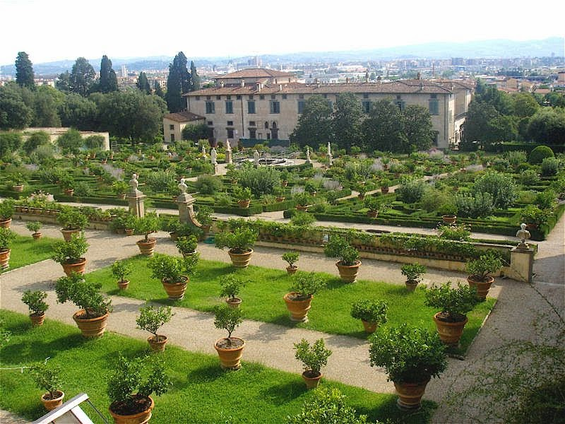 The giardino all'italiana of Villa di Castello, Florence