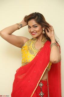 Actress Ashwini in Golden choli Red saree Spicy Pics ~  042.JPG