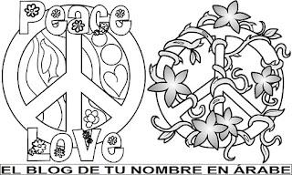 simbolo de la paz para tatuajes en blanco y negro