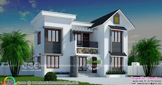3 bedroom 1140 sq ft modern home design