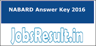 NABARD Answer Key 2016