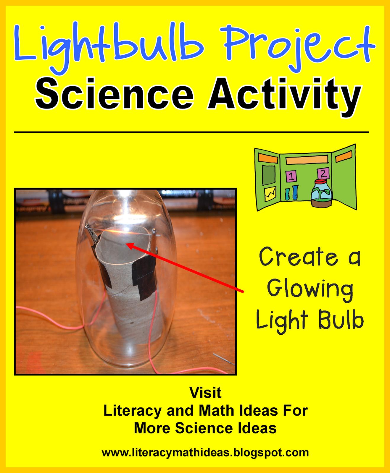 Literacy Amp Math Ideas Stem In The Classroom Make A Lightbulb