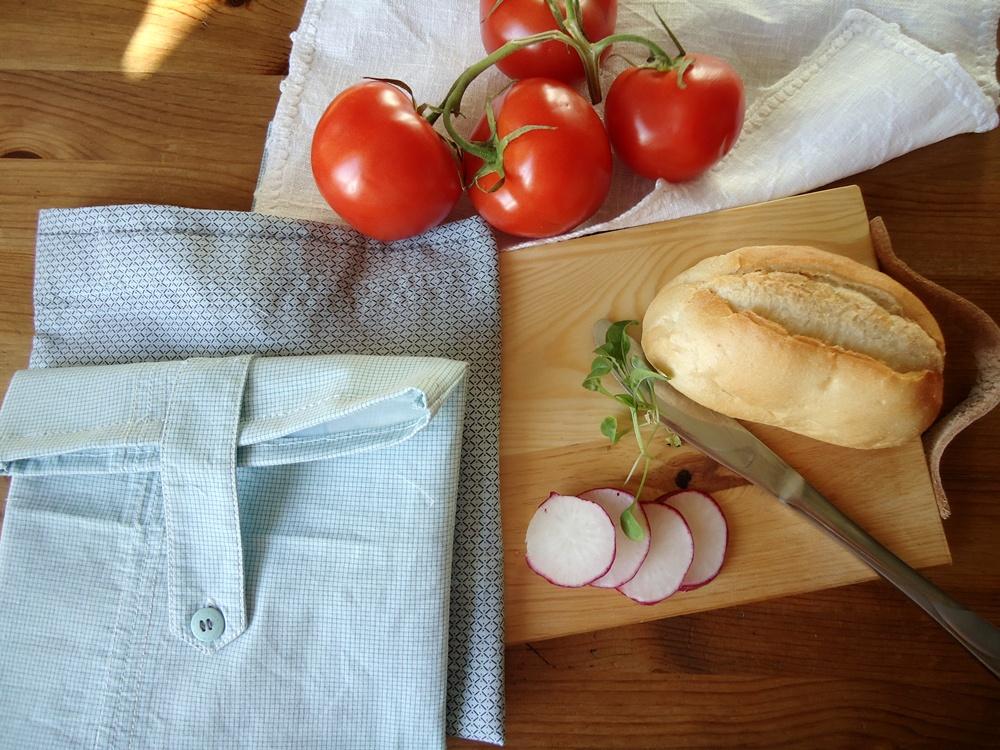 wielorazowe torebki śniadaniowe DIY