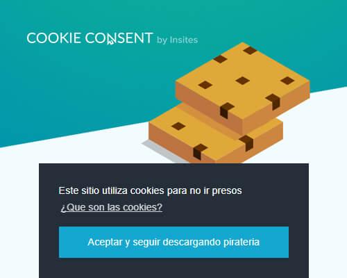 Crear aviso de cookies con Cookie Consent