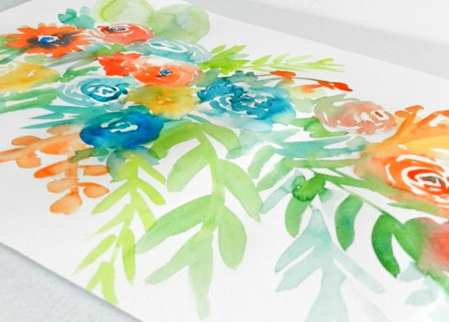 Floral Spring Watercolor Painting by Elise Engh: growcreative