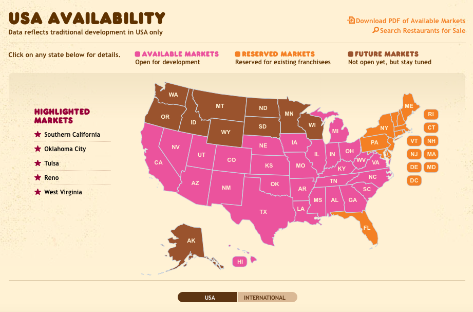 Dunkin Donuts Us Map BizMojo Idaho: Dunkin' Donuts opens in Utah; expansion planned