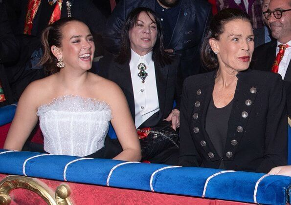 Princess Stephanie, Pauline Ducruet and Camille Gottlieb attended the 2nd day of the 44th International Circus Festival in Monaco