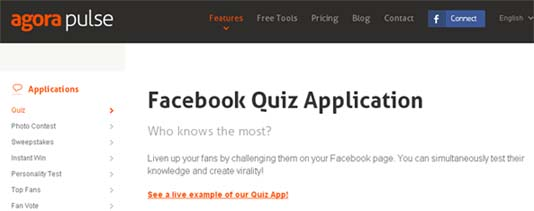 AgoraPulse Facebook Quiz App
