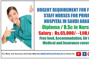 Staff Nurse Vacancy Recruitment For Dallah Hospital Saudi Arabia