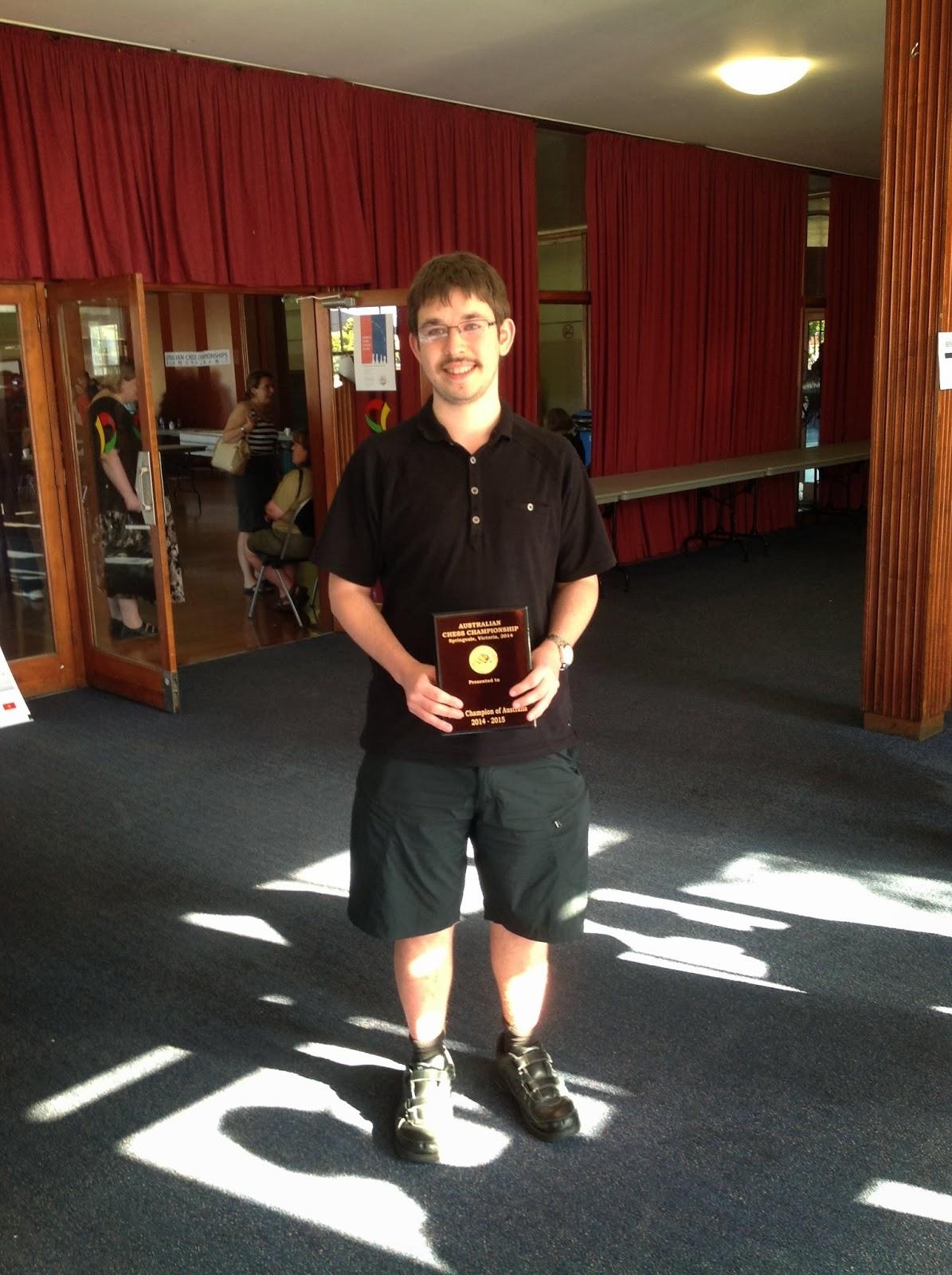 Max Illingworth wins the 2014 Australian chess championship.