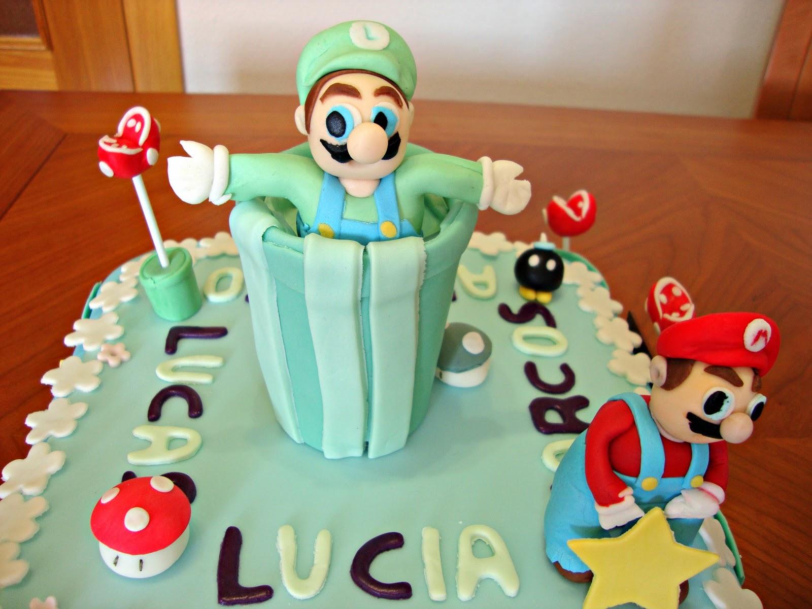 Tarta Mario Bros de fondant
