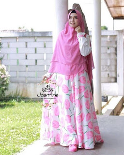 Gamis Jasmine Medina Dress Tulip 14