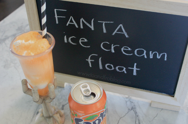 fanta ice cream float