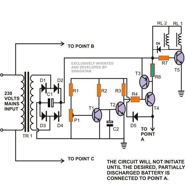 Circuit Schematic Mini Uninterruptible Power Supply (UPS