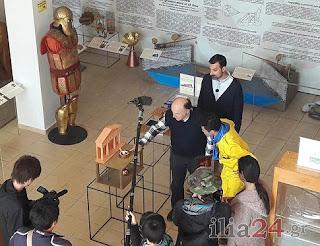 Οι Ιάπωνες Στην Ολυμπία και το Μουσείο Κοτσανά για το γύρισμα του ντοκιμαντέρ