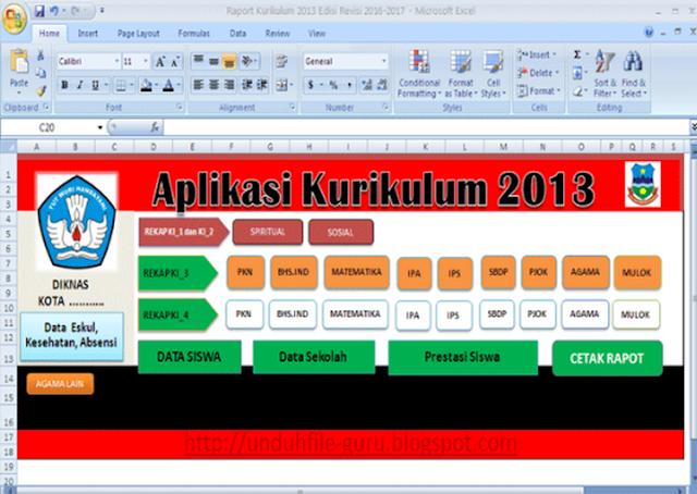 Contoh Raport & Penialian Kurikulum 2013 Sd Terbaru