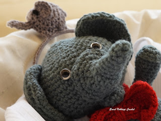 free crochet elephant to pattern , free crochet headband pattern, free crochet elephant motif