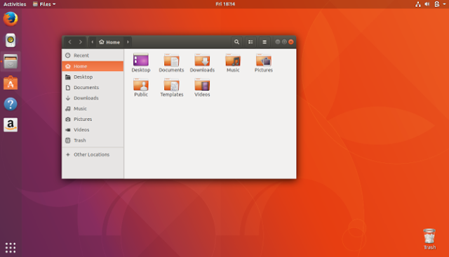 Ubuntu Desktop Home