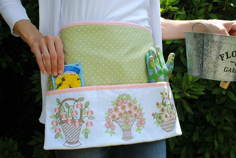 DIY Embroidered Garden Apron