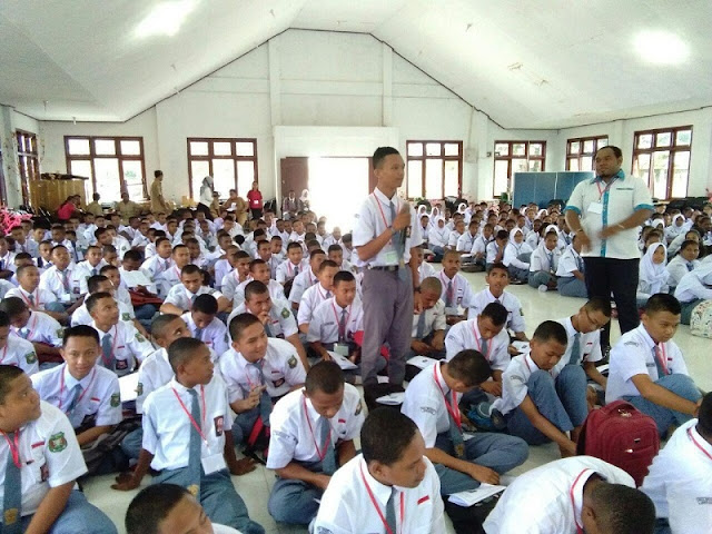 TNI Berikan Wawasan Nusantara ke Siswa SMA Negeri 1 Merauke
