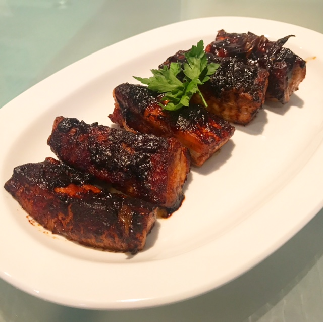 Belly Pork Slices in Barbecue Sauce