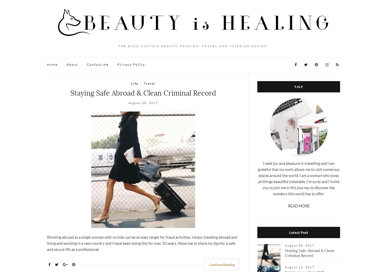 Beauty is Healing Wordpress Blog Design