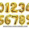 Balon Foil Angka Warna Gold (Ukuran 1 Meter)