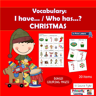 https://www.teacherspayteachers.com/Product/Vocabulary-I-have-Who-has-CHRISTMAS-3468948