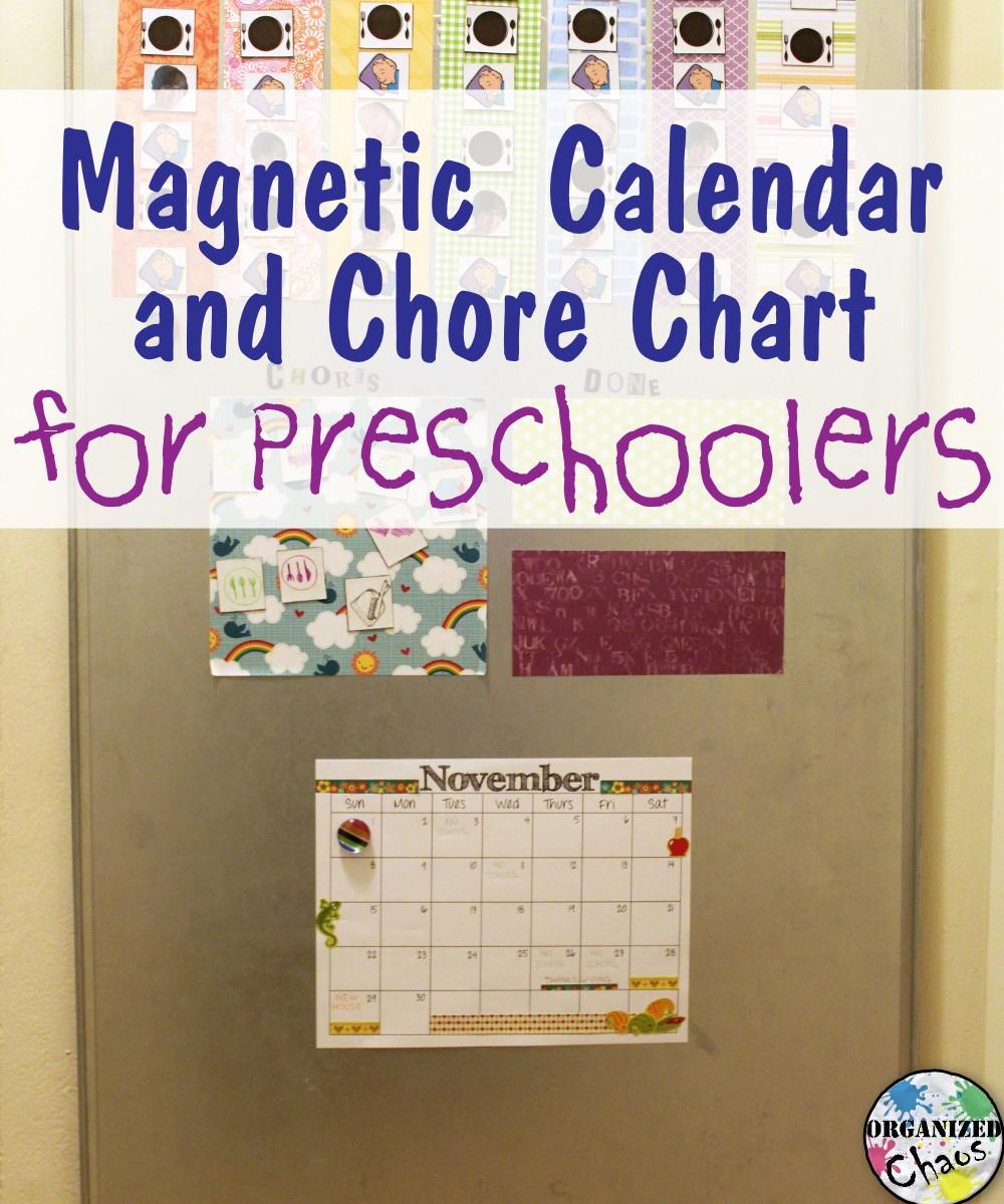 Mommy Monday: Magnetic Calendar For Preschoolers DIY
