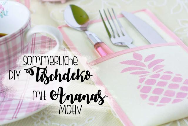Sommerliche DIY-Tischdekoration mit Ananas Some Joys