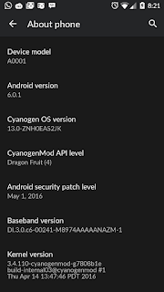 hasil update marshmallow pada one plus one
