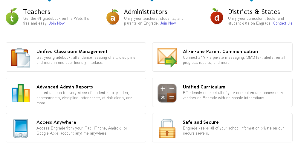 Educational Technology Guy: Engrade - free online gradebook expands