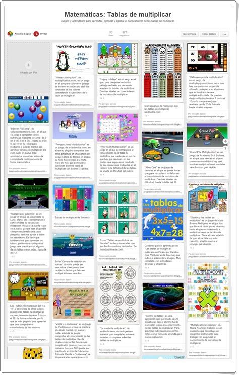 """""""Conjunto de juegos y actividades para el aprendizaje de las Tablas de Multiplicar"""""""