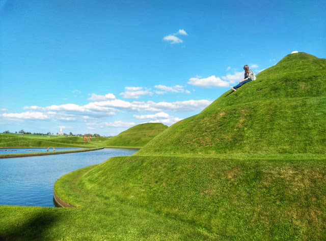 Jencks Life Mounds, Jupiter Artland, Edinburgh