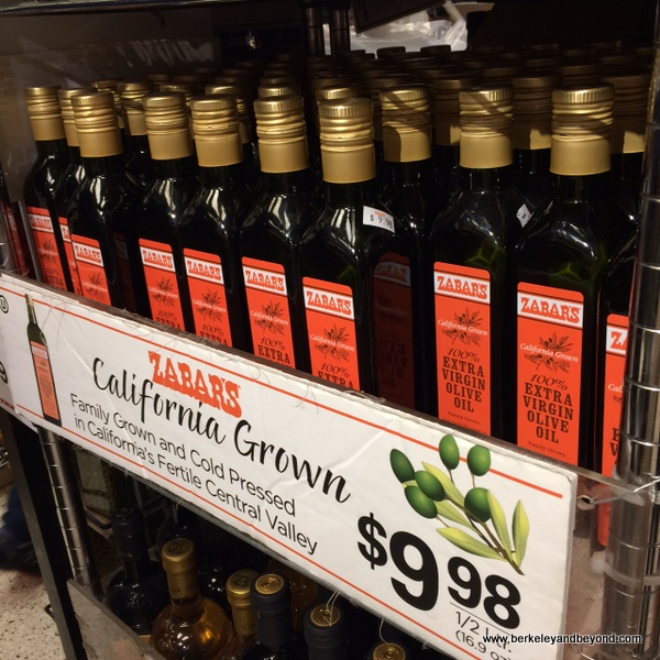 California olive oil at Zabar's deli in NYC