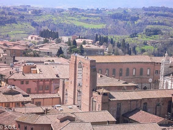 Panorama de Siena. Italia
