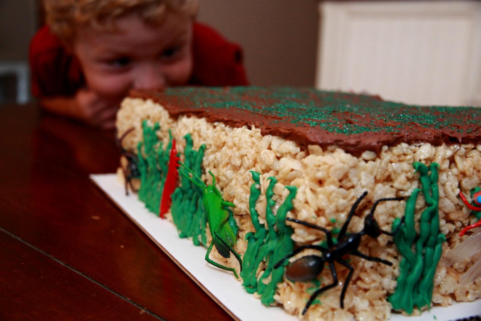 Rice Krispie Treat Cake Coopers Buggy Birthday