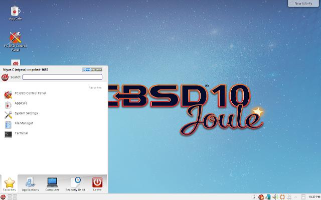 PC-BSD Main Menu