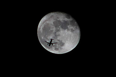 Finally captured image with plane in front of moon (Source: Palmia Observatory)