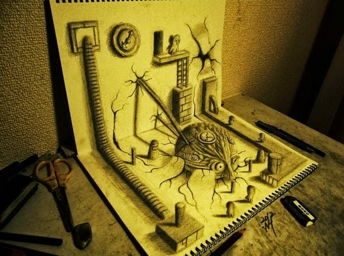 14-NAGAI-HIDEYUKI-Hide-永井-秀幸-3D-Pencil-Drawings-www-designstack-co
