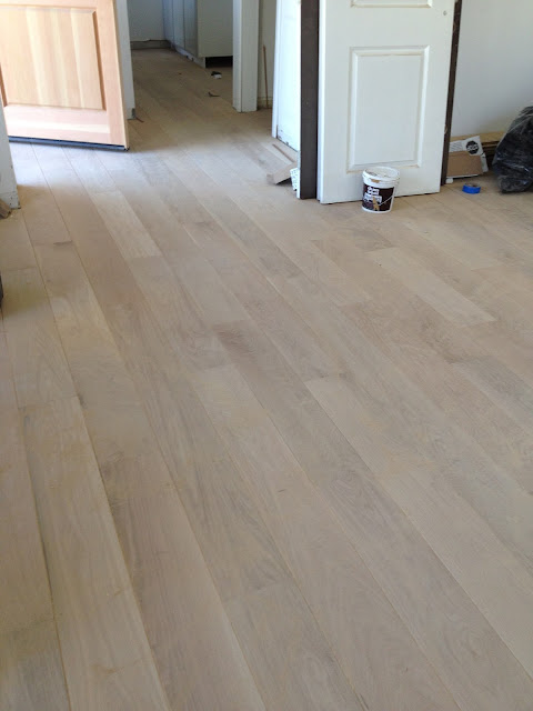 unfinished white oak floors