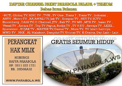 parabola venus 7 ft mesh palapa + telkom