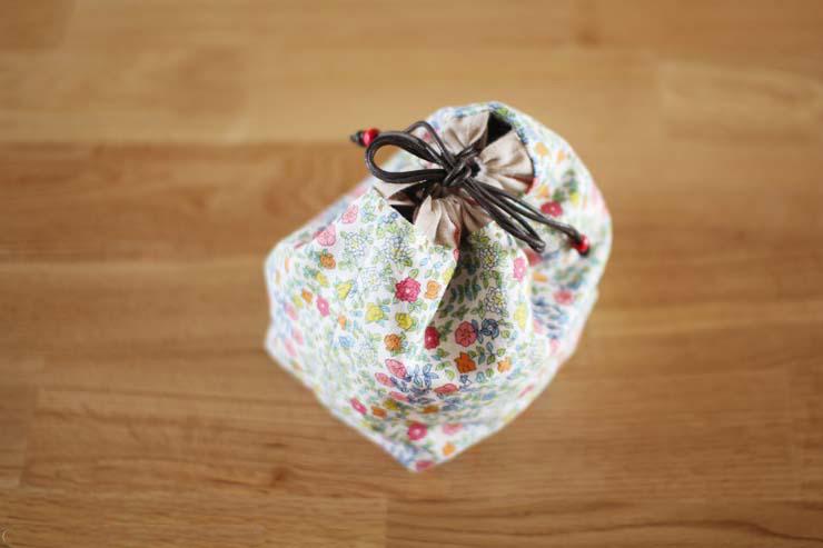 cordão Handmade lancheira bag, bolsa, saco pequeno