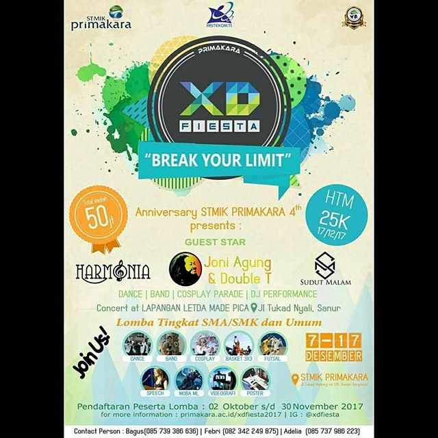 Event XD FIESTA 2017 Tingkat SMA-Mahasiswa